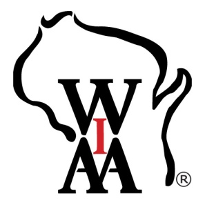 WIAA logo Bk&Re(sep)